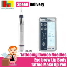 $enCountryForm.capitalKeyWord Australia - Electric Digital Tattoo Machines Permanent Makeup Pens For Eyebrows Lips Body Tattoo Cosmetic Kits Make Up Cartridge Needles