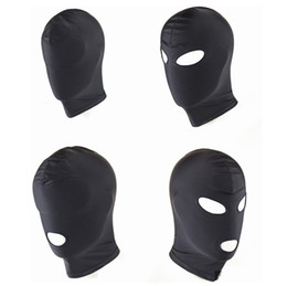 Nuovo arrivo Giochi per adulti Fetish Hood Mask BDSM Bondage Black Spandex Mask Sex Toys For Couples 4 Specifiche da scegliere
