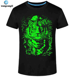 Wholesale short sleeve personalized t for sale – custom Summer New D t shirt men Leisure Fluorescent Personalized Short sleeve Luminous Tee Shirt Tops Men T shirt XL clothes