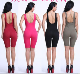446fe048688 Sexy Women Rompers Solid Bodysuit Overalls Summer 2016 Cotton Bodycon Strapless  Jumpsuit Backless Dungarees Woman Playsuit