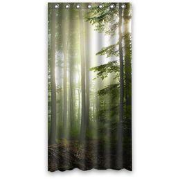 $enCountryForm.capitalKeyWord UK - Customs 36 48 60 66 72 80 (W) x 72 (H) Inch Shower Curtain Forest Tree Waterproof Polyester Fabric Shower Curtain