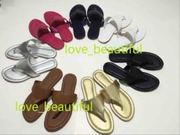 Flip Clips NZ - Fashion Women Platform Litchi Sandals Slippers Casual Cowhide Flip Flops Toe clip slippers Large size 34-42