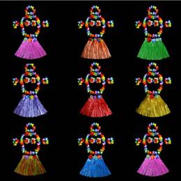 $enCountryForm.capitalKeyWord Canada - 2017 New 40cm Girl Hawaiian Luau Hula Skirt Wristbands Bra Garland Wreath Headband Tropical Fancy Dress Birthday Party Supplies