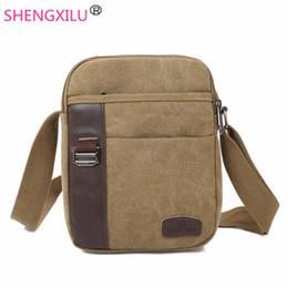 Discount Mens Canvas Leather Messenger Bags | 2017 Mens Canvas ...