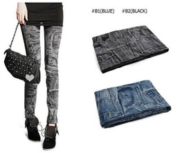 $enCountryForm.capitalKeyWord UK - 120pc Women Pants Sexy Leggings Free Style Women's Printed Leggings Jeans Cheap Ripped Denim Spandex Graffiti Fitness Legging TR08