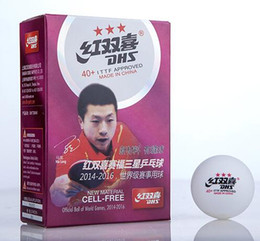 DHS Tournament Use 3 Star 40+ New Material PP Ball Table Tennis ball   ping pong ball 6pcs pack from dhs balls suppliers