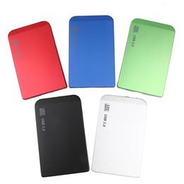 Discount notebook hard drive enclosure - Wholesale- New 2.5 Inch Tiny Thin HDD Case Aluminum Sata to USB Hard Drive Disk External USB 2.0 Storage Enclosure Box F