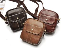 Genuine Leather Crossbody Handbags Wholesale Canada - Wholesale- Fashion genuine leather unisex Handbag shoulder bags ladies vintage crossbody sling messenger bag Purses Bolsas satchels