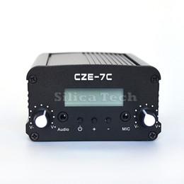 CZE-7C 7W estéreo PLL transmisor de FM estación de radio-TNC