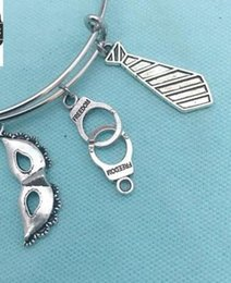 fashion bracelet handcuffs 2019 - Handcuffs Tie Masks Charm Expandable Wire Bangles Vintage Silver Cuff Bangles For Women Jewelry Fashion Couple Gift Acce