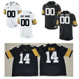 e663b5891 Iowa Hawkeyes Mens College Football Custom  12 14 16 23 35 94 White Black  Limited Stitched Personalized Any Name Any Number Jerseys S-3XL