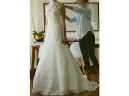 China Fit and Flare Sleeveless Sweetheart Lace Removable Sleeveless High Neck Jacket Bridal Gown Wedding Dress COR-571 Vestidos De Novia suppliers