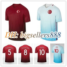 312fa3d482d ... Top Thai quality 2016 2017 Turkish Home Soccer Jersey 16 17 Turkey CENK TOSUN  ARDA Away . ...