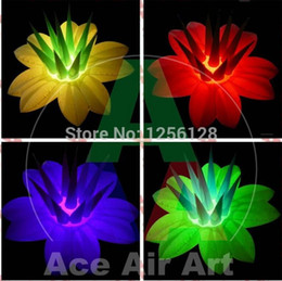 cheap wholesale inflatables UK - Cheap and colors changing giant inflatable flower for stage decoration 1.5diametre