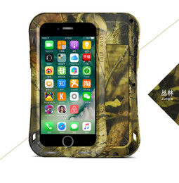 $enCountryForm.capitalKeyWord UK - Love MEI Small Waist CAMO SERIES Shockproof Waterproof Dust Snow Proof Aluminum Metal Case Gorilla Glass Case Cover for iPhone 7 Plus