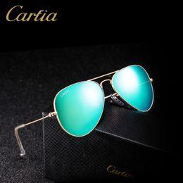 14e7f4af32ed Top quality Glass lens Polit luxury Sunglasses carfia 58mm UV 380 sunglasses  for men Designer sunglasses Vintage metal Sport Sun glasses Wit