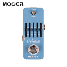 ElEctric guitar EqualizEr online shopping - Mooer Graphic G Band Smallest Guitar Graphic Equalizer Pedal Guitar effect pedal
