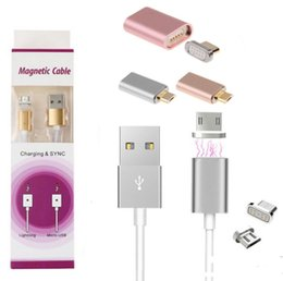 color sync usb iphone 2018 - Android Iphone Connector 2 in 1 function Magnetic Cable braided woven quick Charger Data Sync USB Charging adapter For S