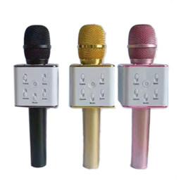Q7 Micrófono de mano inalámbrico Bluetooth KTV con altavoz Mic Microfono de mano para teléfono inteligente Reproductor de Karaoke portátil 0802218
