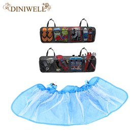 Fabric Hanging Organizer Australia - Wholesale- DINIWELL Car Boot Seat Back Foldable Hanging Storage Bag Organiser Storage Pouch Trunk Organizer For Auto Trunk