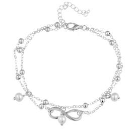 $enCountryForm.capitalKeyWord Australia - Vintage Gold Silver Color Pearl Charms Anklet For Women Bohemian Ankle Bracelet Boho Sandal Foot Jewelry HZ