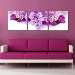$enCountryForm.capitalKeyWord UK - Contemporary and contracted sanlian frameless paintings New house adornment bedroom the head of a bed hangs a picture flowers still lifes