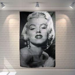 Marilyn Monroe Classic Movies Cloth Flag Banners Bar Billiards Hall Studio  Theme Wall Hanging Decoration