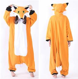 Adult Fox Halloween Costumes Canada - Mr Fox Cosplay Costumes Onesie Pajamas Kigurumi Jumpsuit Hoodies Adults Romper For Halloween Mardi Gras Carnival