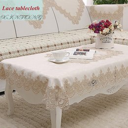 Captivating 1 Piece European Rural Water Soluble Tablecloth Modern Embroidered Tea Table  Cloth High Grade Simple But Elegant Table Cloth