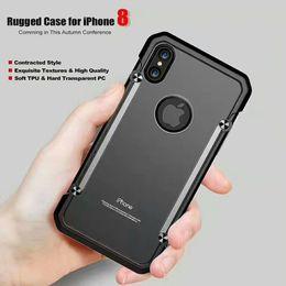 Ballistic Iphone Rugged NZ - 2017 new Brushed Hybrid For Galaxy S8 iphone 8 case Armor Rugged Ballistic Shockproof Hard PC+Soft TPU Beetle Slim Cover