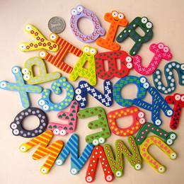 $enCountryForm.capitalKeyWord Canada - 26pcs set Cute painted wooden English alphabet fridge magnets whiteboard sticker Refrigerator Magnets Kids gifts Home Decor