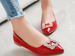 $enCountryForm.capitalKeyWord NZ - Scoop shoes spring 2016 Korean pointed buckle diamond shallow mouth flat tide size shoes 41-43 shoes 396