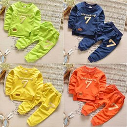 Tee-shirt De Combat Pour Enfants Pas Cher-2Pcs Baby Boys Girls T-Shirt Coat + Pants Set Kids Casual Sweatshirts Outfits