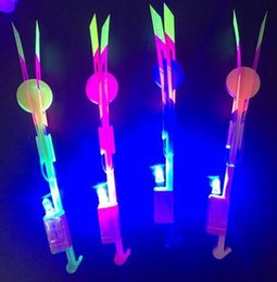 $enCountryForm.capitalKeyWord Canada - Hot sale 2200Pcs Free DHL Amazing LED Light Arrow Rocket Helicopter Flying Toy LED Light Flash baby Toys Party Fun Gift Xmas