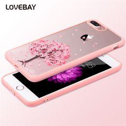 $enCountryForm.capitalKeyWord UK - Cartoon Cat Cherry Tree Pattern Phone Case For iPhone 7 7 Plus 6 6s Plus 5 5s SE 5C 4 4S Hard Transparent Flowers Back Cover