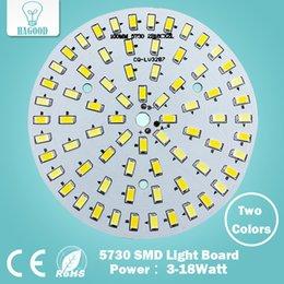 Al por mayor- caliente / blanco frío dos colores en una PCB 3W 5W 7W 9W 12W 15W 18W 5630/5730 SMD tablero de luz llevó el panel de la lámpara para techo PCB con LED
