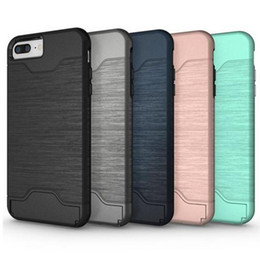 Wholesale Case for iphone Samsung Galaxy S6 Edge Hybrid Hard Armor Case Cover For iphone plus With Stand Card Holder Mobile Phone Accessories