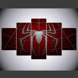 spiderman spray Canada - 5 Panel Canvas Painting Wall Pictures for Living Room Posters and Prints Spiderman Canvas Art Canvas Picture Home Decoration IM-272