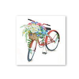 $enCountryForm.capitalKeyWord NZ - RTPIONEER Small fresh style colored bicycle poster art of the modern canvas painting of wall pictures for the living room