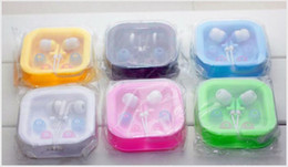 Retail package box mp3 online shopping - colorful Cheapest New In ear mm Earphone For MP3 Mp4 Mobile phone for gift with white retail box package new arrival