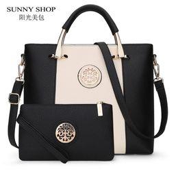 Wholesale- SUNNY SHOP 2017 New 2 Bags Set European And American Style Women  Bag Brand Designer Women Shoulder Bags Handbag And Purse 8f1bbac44c347