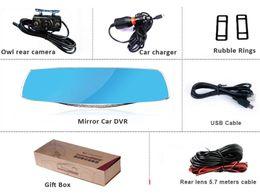 $enCountryForm.capitalKeyWord Australia - 4.3 inch HD Blue LCD Screen Android GPS Navigation Mirror Car DVR Dual Lens Blue Mirror Rear view car dvr
