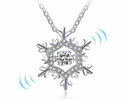 $enCountryForm.capitalKeyWord NZ - 2018 Autumn and winter new 925 silver snow fidget pendant necklace Set auger women Christmas gift Jewelry + Free shipping 389