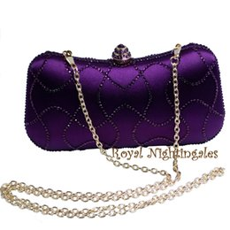 $enCountryForm.capitalKeyWord NZ - Newest Purple Crystal Clutches Box Clutch Bags for Womens Party Crystal Rhinestone Evening Purses and Bags
