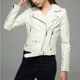 $enCountryForm.capitalKeyWord Canada - Long sleeves womens jackets 2017 black beige white leather clothing slim motorcycle leather jacket women outerwear coats winter