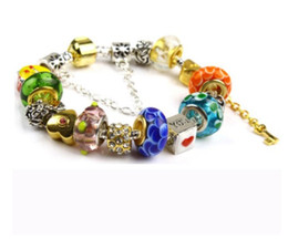 $enCountryForm.capitalKeyWord NZ - 2017 Pandora Style Charm bracelets Fashion Candy Colour Murano Glass & Crystal European Charm Beads Fits Charm bracelets Bangles DIY Jewelry