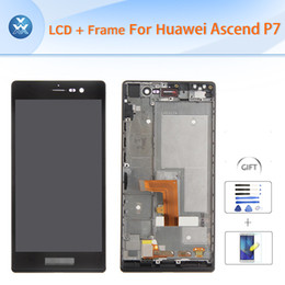 Huawei lcd glass online shopping - Original For Huawei P7 LCD with frame assembly LCD display touch screen digitizer glass full replacement black white quot pantalla