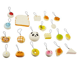 Chinese  Wholesale Kawaii Squishy Rilakkuma Donut Soft Squishies Cute Phone Straps Bag Charms Slow Rising Squishies Jumbo Buns Phone Charms Free DHL manufacturers
