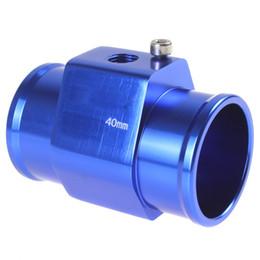 Синий цветной автомобильный датчик температуры воды в автомобилях для воды Датчик температуры воды 40 мм Алюминий с зажимами CEC_519