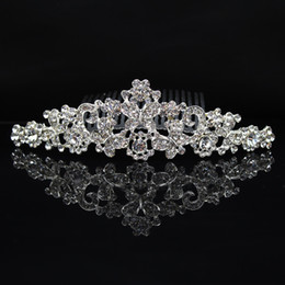 butterfly hair comb wedding 2019 - Flower Butterfly Bridal Hair Crown Silver Plated Crystal Tiaras Wedding Hair Combs Bride Headpieces Rhinestone Hair Acce